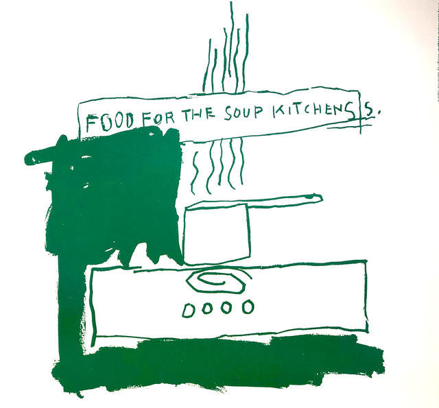 Jean-Michel Basquiat, 'Food For Soup Kitchen', 1983, Woodward Gallery