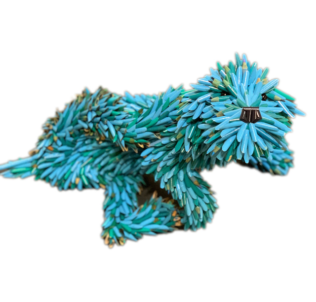 , 'Blue Puppy (Scratching),' 2020, Adelson Galleries