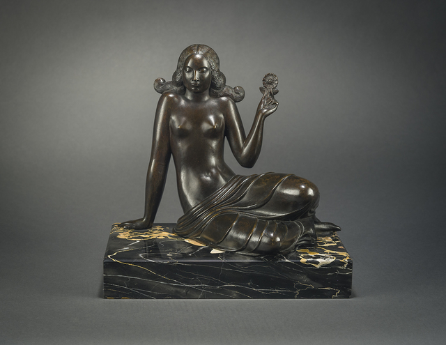 , 'Seated Female Figure (from Day and the Hours Sundial),' 1916, Hirschl & Adler Galleries