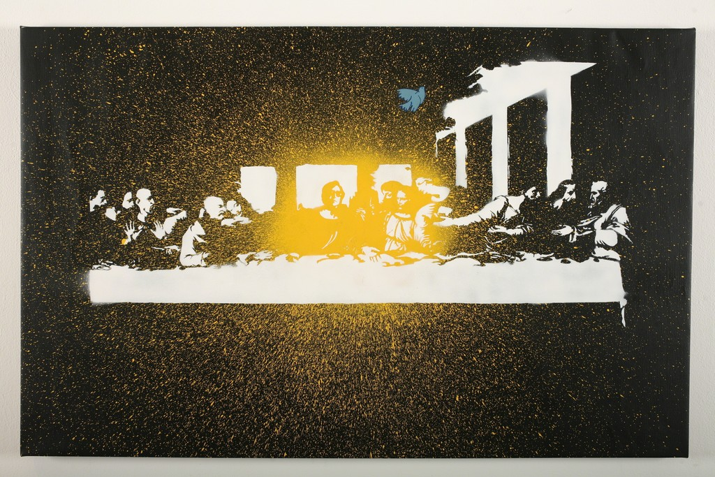 Blek le Rat, 'Dripping Last Supper,' 2008, Jonathan LeVine Projects