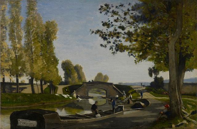 , 'Les bords du Canal,' 1861, Stoppenbach & Delestre