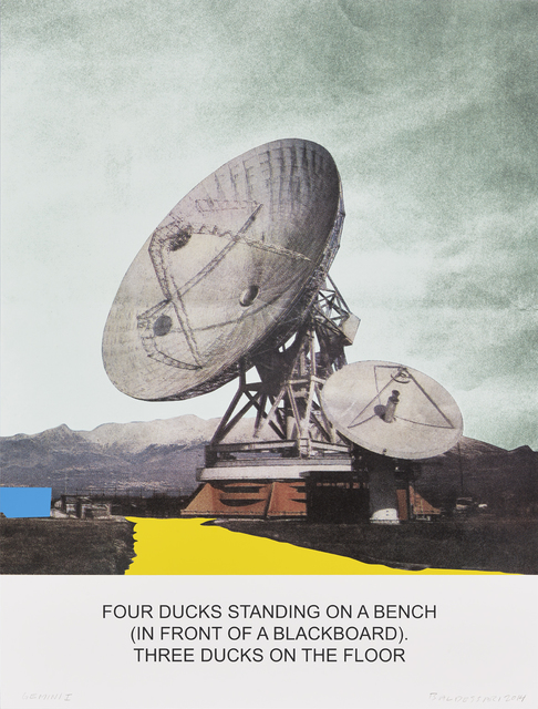 , 'The News: Four Ducks Standing on a Bench...,' 2014, Gemini G.E.L.
