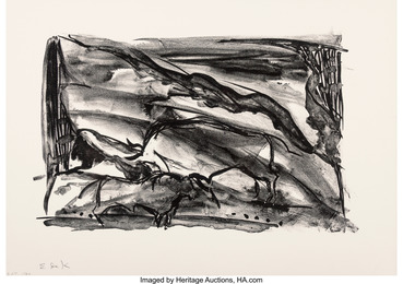 Untitled, from The Lascaux Series (two works)