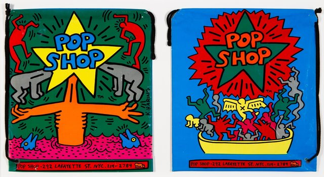 Keith Haring, 'Pop Up Shop Shopping Bags', 1988, Heritage Auctions