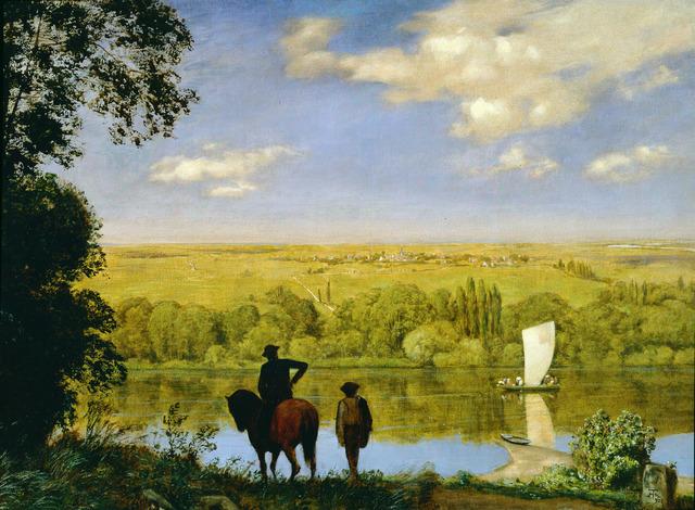 , 'Mainlandschaft: Landscape with a Horseman on the Main,' 1890, Jack Kilgore & Co.