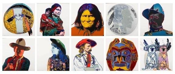 Andy Warhol, 'Cowboys & Indians (F&S II. 377-386)', 1986, Robin Rile Fine Art