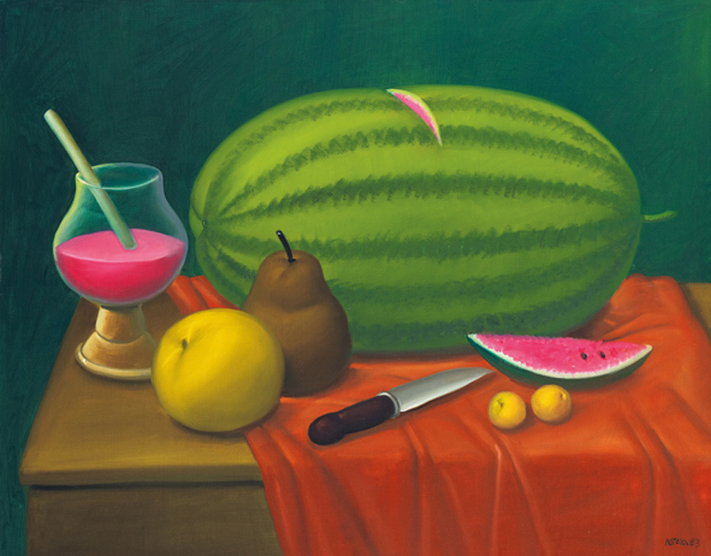 fernando botero still life with fruits 2003 available for sale