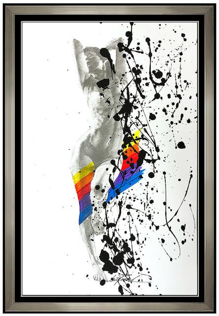 Bill Mack, 'Bill Mack Charisma Original Acrylic Painting Hand Signed Female Nude Framed Art', 21st Century , Painting, Acrylic and Collage, Original Art Broker