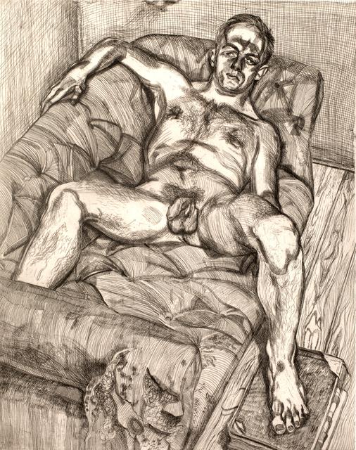 Lucian Freud, 'Man Posing', 1982, Print, Etching, Zuleika Gallery