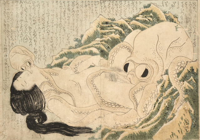 Katsushika Hokusai, 'The Dream of the Fisherman's Wife (Female Diver and Octopuses)', 1814, Ronin Gallery