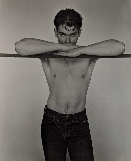 George Platt Lynes, 'Nino Sansone at Bar', 1950, Photography, Gelatin silver print, Capsule Gallery Auction