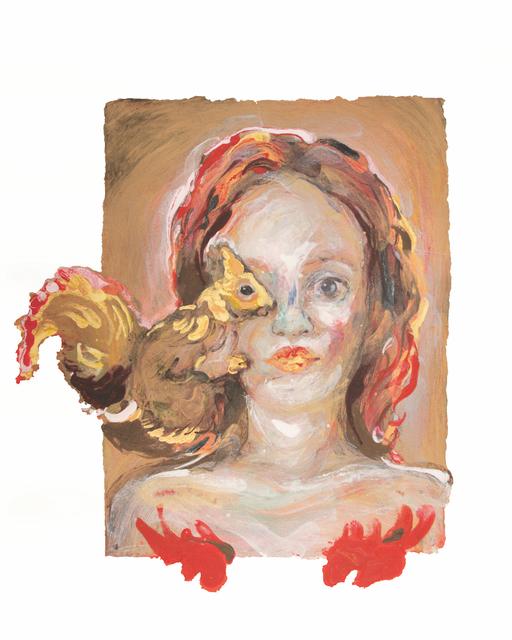 Natalie Frank, 'Woman with Squirrel', 2019, Dieu Donné Benefit Auction