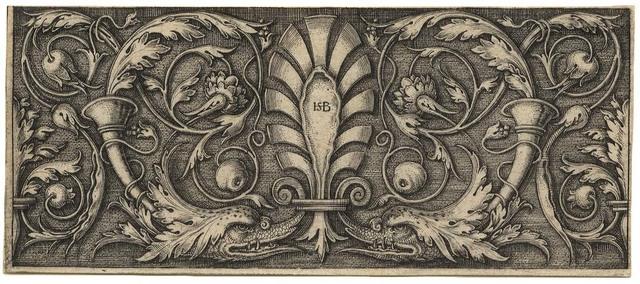 , 'Querfüllung mit der Palmette – Ornament with Scroll and Dolphin Heads,' , C. G. Boerner