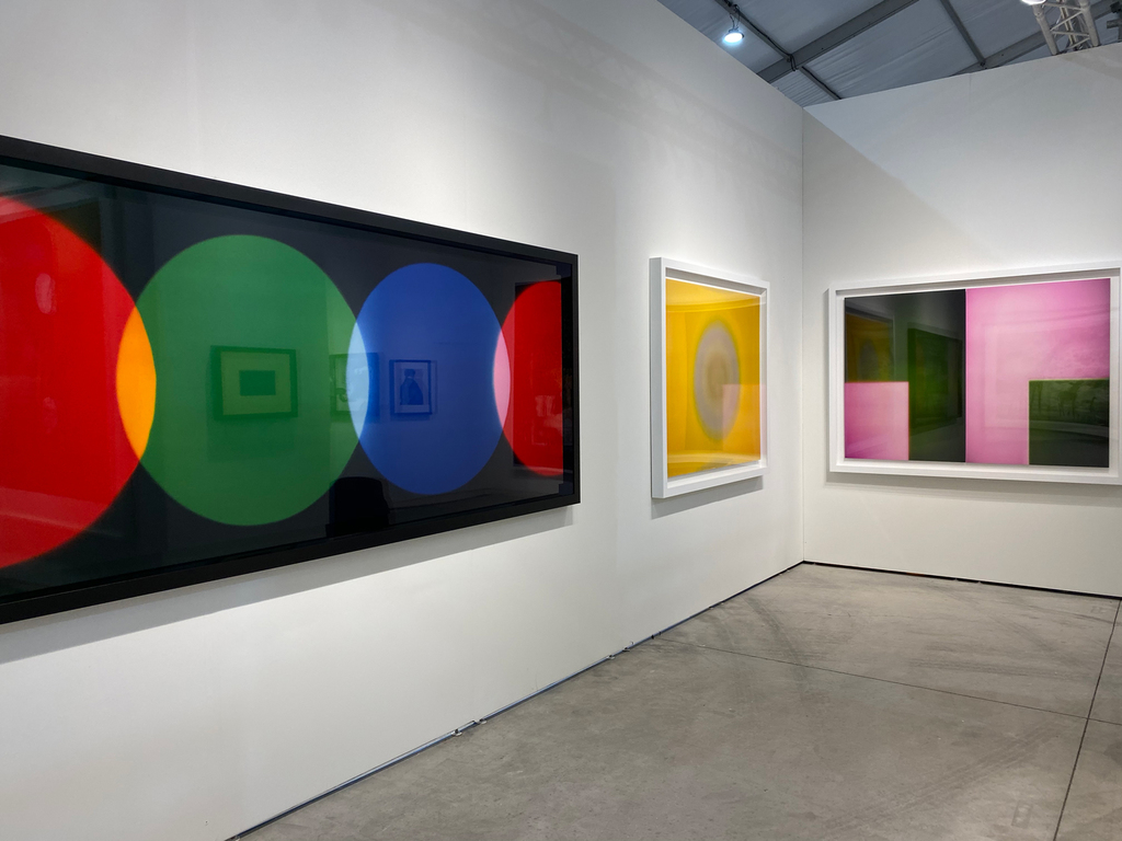 Left to right: Garry Fabian Miller, A Lost Colour World, 2019; Garry Fabian Miller, The Golden Flood, 2014-2015; Garry Fabian Miller, Memories Lived in this Place, 2019
