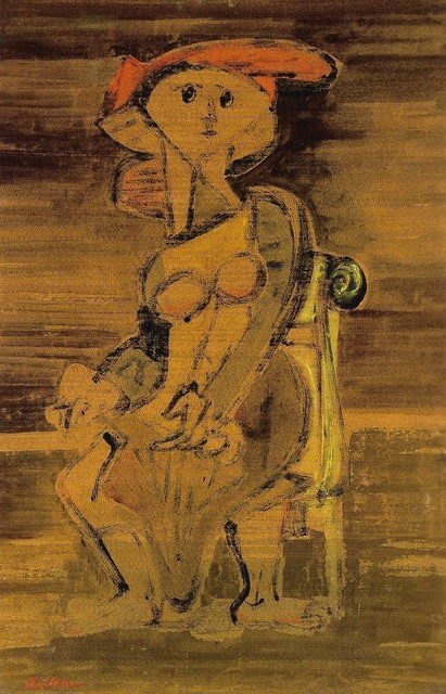 , 'Seated Woman,' ca. 1941, Ben Uri Gallery and Museum