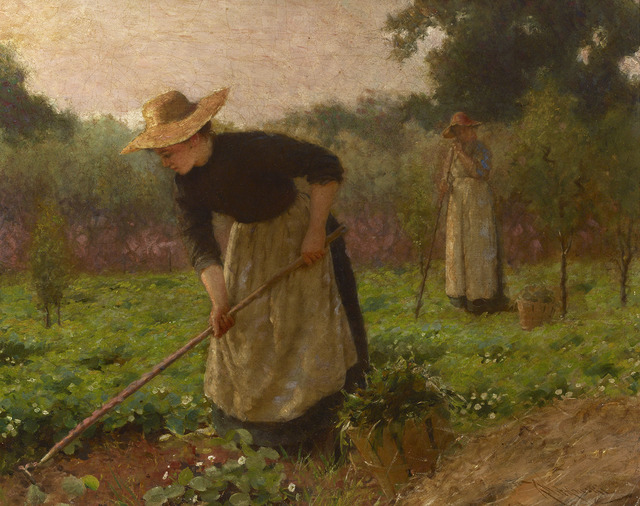 Karl Witkowski, ' Women in a Garden', ca. 1900,  M.S. Rau Antiques