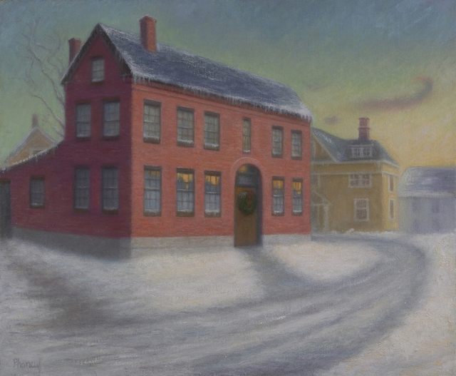 , 'The House from Beacon Hill,' 2018, The Guild of Boston Artists