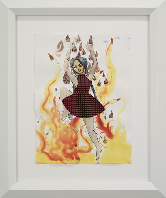, 'Angel of Girls, girls, girls tight walking on fire,' 2015, Galerie Nathalie Obadia