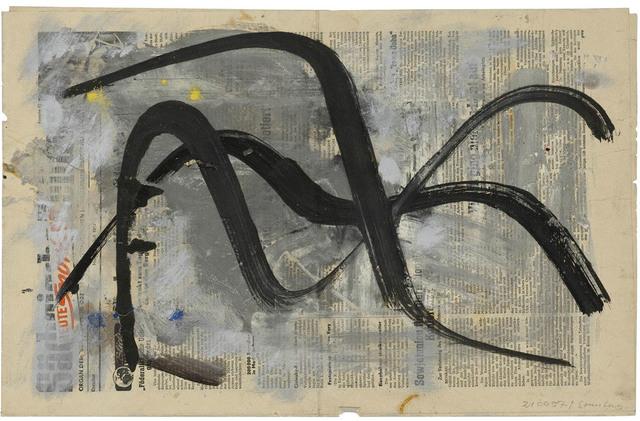 , 'Schwarze Schwünge,' 1957, Galerie Doebele