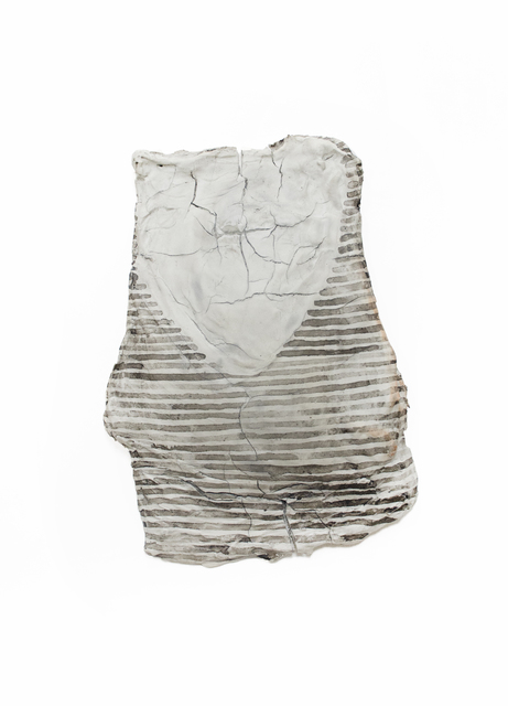 Erin Woodbrey, 'Fragment (V-neck T-shirt with a Small Pocket on the Right Breast)', 2019, Sculpture, India Ink on Fired Porcelain formed from Fabric and Wood, Gaa Gallery