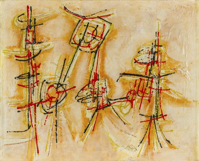 Achille Perilli, 'Frammento d'epigrafe', 1957, Painting, Mixed media on canvas, ArtRite
