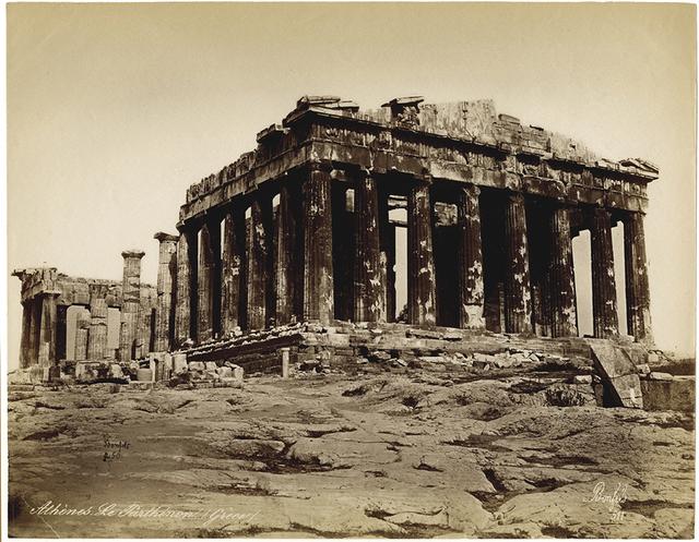 """, '""""Gréce. Le Parthenon à Athèns"""",' 1877, Be-hold"""