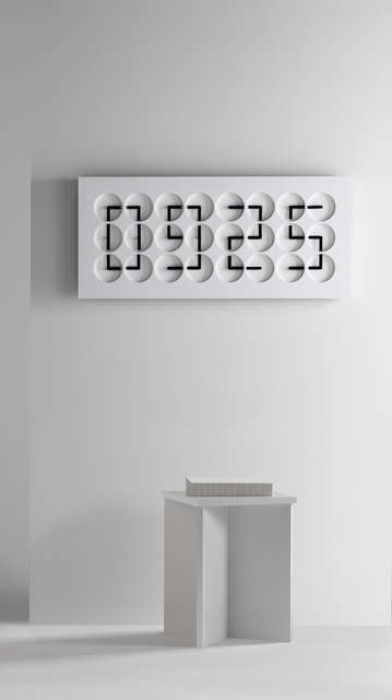 , 'Clock Clock 24, white,' 2016, Gallery ALL