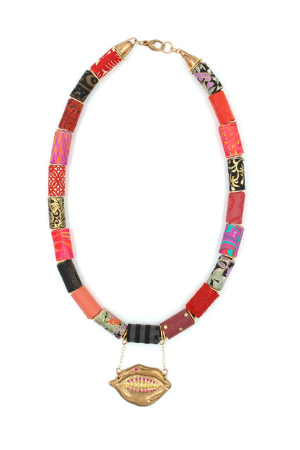 , 'Paper Bead and Lip Necklace  ,' 2017, form & concept