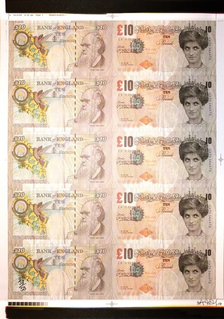, 'Di Faced Tenners signed,' 2004, Lionel Gallery