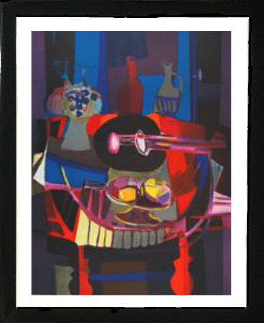 Marcel Mouly, 'L'Hommages a G Braque ', 1988, Print, Lithograph on Arches paper, Baterbys