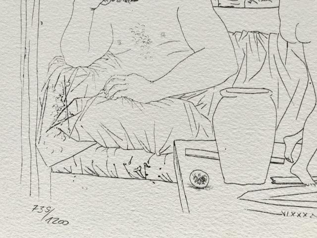 Pablo Picasso, 'Sculpteur et trois danseuses sculptées (Suite Vollard Planche LXXXI)', 1973, ByNewArt