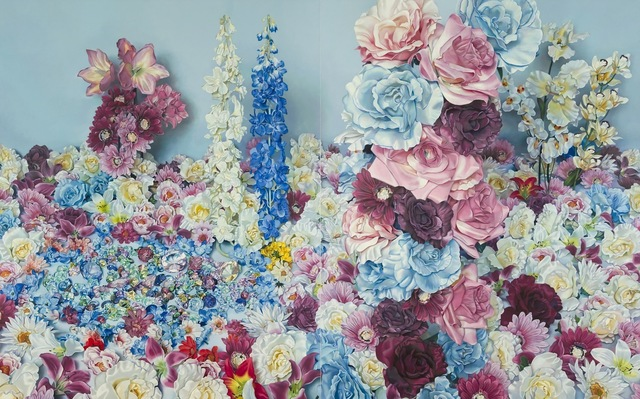 , 'Scenery with Blue Roses,' 2013, SNOW Contemporary