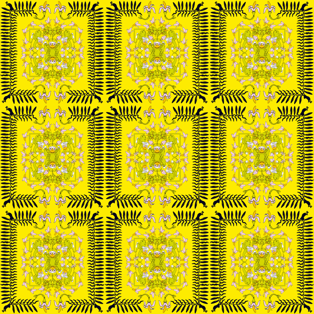 """DFC, 'Lemon Zest Wallpaper from the series """"Love Monkey""""', 2012, Museum of Arts and Design"""
