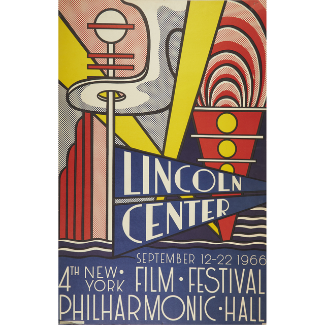 Roy Lichtenstein, 'Lincoln Center (Poster)', 1966, Posters, Color offset lithograph on smooth white wove paper mounted on foam core, Freeman's