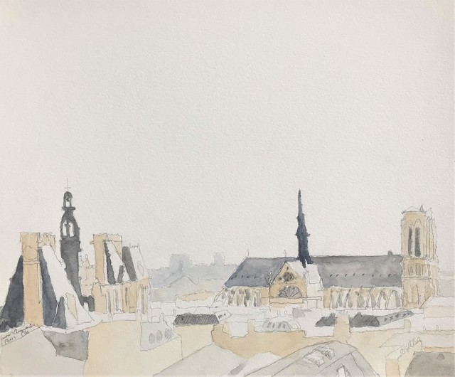 , 'Roofs of Paris No. 1 ( diptych ) ,' 2016, Andra Norris Gallery