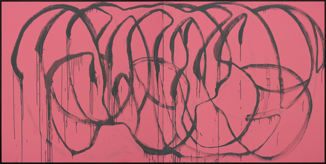 , 'Was bleibt? (grey on pink, Madrid),' 2015, Galerie Thomas Schulte