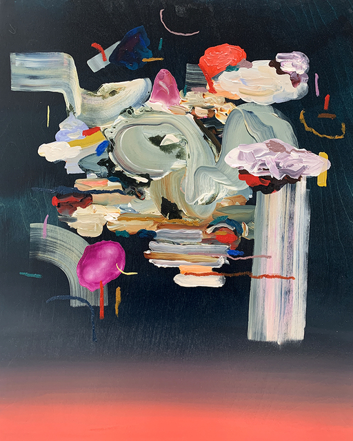 Janna Watson, 'Sunsets in the City', 2021, Painting, Mixed media on panel, Foster/White Gallery