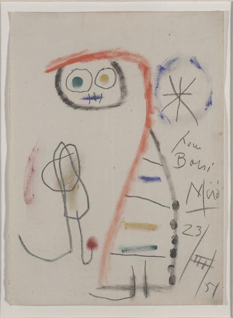 Joan Miró, 'Composition pour Borsi', 1951, David Lawrence Gallery