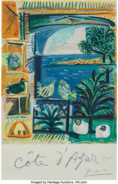 Pablo Picasso, 'Cote d'Azur', 1962, Print, Lithograph in colors on wove paper, Heritage Auctions