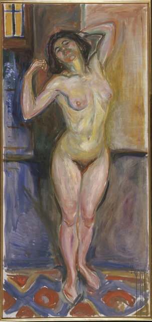 , 'Stående akt med armene bak hodet (Standing Nude with Arms behind her Head),' 1922-1925, Munch Museum