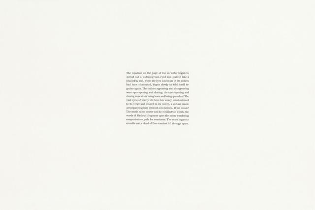 , 'Joyce, A portrait of the Artist as a Young Man (ch.III/87), v. 2,' 2018, Gallery Joe