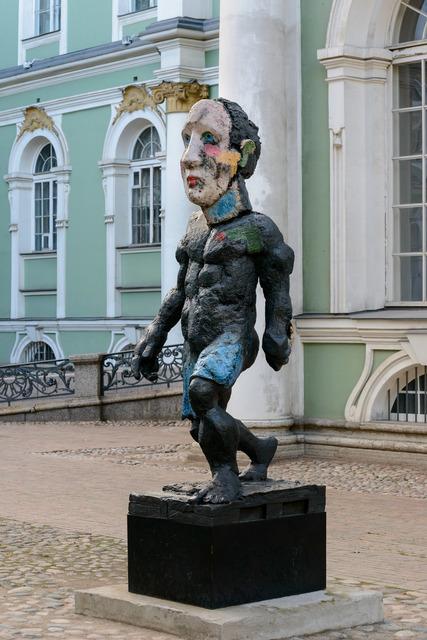 "Markus Lüpertz, '""Der Morgen oder Hölderlin""', 2011, Sculpture, Bronze. Each hand-painted., Michael Werner Gallery"