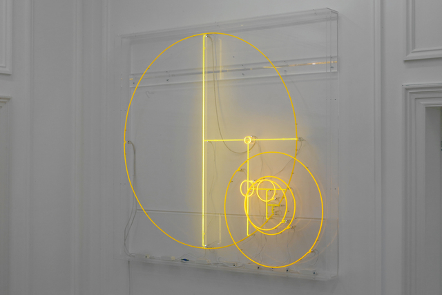 , 'Divisions (Yellow Lines and Yellow Circles),' 2014, Micheline Szwajcer