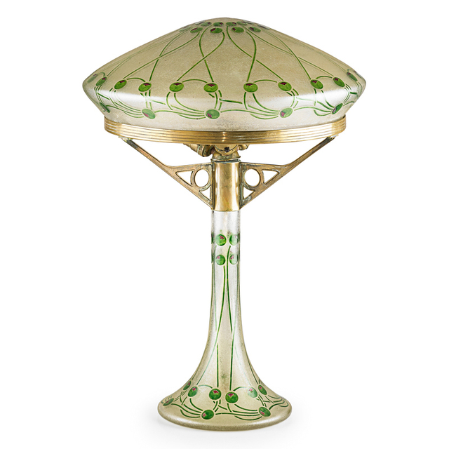 Ludwig Sutterlin, 'Fritz Heckert, Judgenstil Table Lamp, Bohemia, Germany', ca. 1910, Rago/Wright