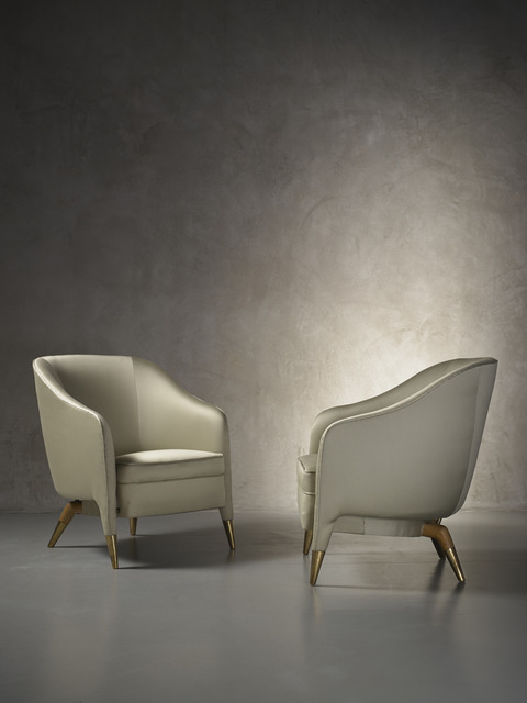 , 'Rare and important pair of prototype armchairs mod. 593,' ca. 1950, Nilufar Gallery