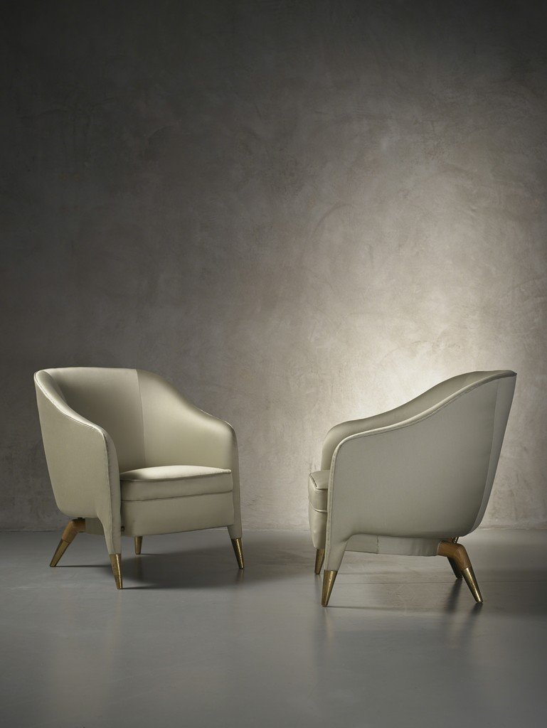 Gio Ponti, 'Rare and important pair of prototype armchairs mod. 593,' ca. 1950, Nilufar Gallery