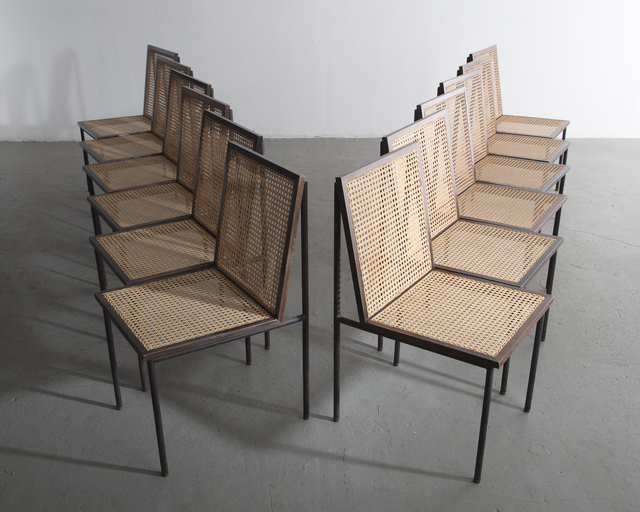 Geraldo de Barros, 'Set of twelve (12) dining chairs ', 1950s, R & Company