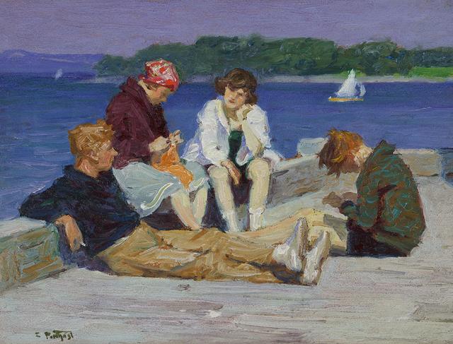 , 'Beach Scene #4,' ca. 1920, Somerville Manning Gallery