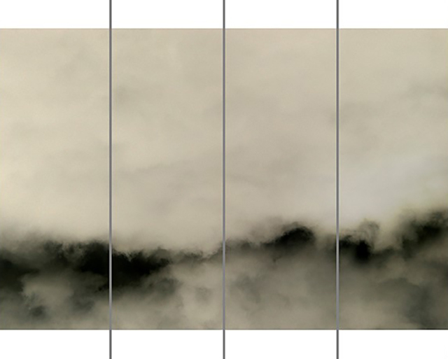 , 'Songs of the Sky No. 7 (4 Panel Photograph of Sky Japanese Kozo Paper/Encaustic),' 2018, Carrie Haddad Gallery