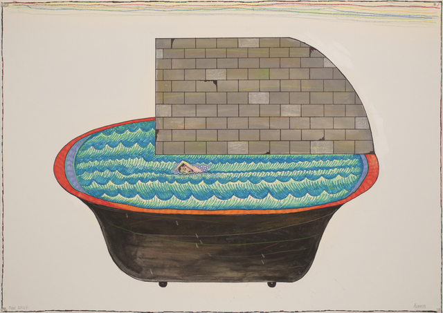 , 'Swimming to Havana-Tub Wall,' 2016, Lyle O. Reitzel